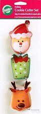 Christmas Snowflake Wishes Present Santa Reindeer Cookie Cutters 3pcs Wilton