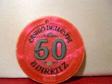 JETON CASINO BELEVUE 50 (64) BIARRITZ