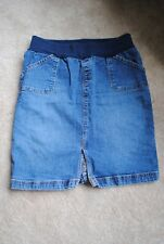 MIMI MATERNITY ~ Womens Denim Skirt ~ Size S Small ~ Pregnancy