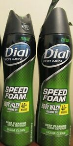 2x Dial For Men Speed Foam Body Wash ultra clean 6.8 oz
