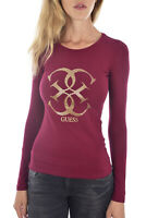 GUESS TEE-SHIRT A MANCHES LONGUES W94I95 J1300 ROUGE FEMME