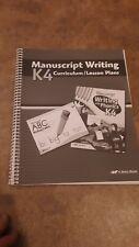 Abeka K4 Manuscript Writing Curriculum/Lesson Plans