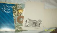 Vintage Christmas Just a Notes Post Cards Stationary Writing Paper