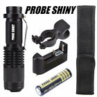 5000LM Zoomable CREE XM-L T6 LED Flashlight Torch Zoom Lamp Light+18650+Charger