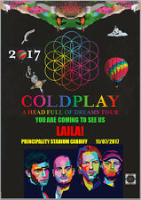 ColdPlay Concert Tour Tickets Seats Present Birthday Card A5 Any Wording
