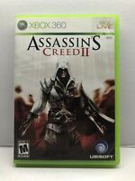 Assassin's Creed II (Microsoft Xbox 360, 2009) Clean & Tested Working Free Ship