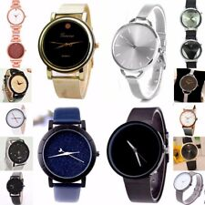Women Men Simple & Minimilist Design Analog Quartz Wrist watch steel case New