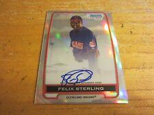Felix Sterling 2012 Bowman Chrome Prospect Autographs Refractors #FS #'d 468/500