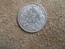 German  Empire ,Germany silver coin 1/2 mark,1917 XF