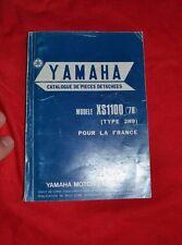 Catalogue de pièces détachées YAMAHA Modèle XS1100 ('78) type 2H9 pour la France