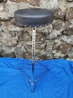Vintage Premier Drum Throne with 10 Adjustable Positions Made in England 1970's