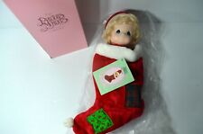 Precious Moments Nicholas First Edition Christmas Stocking Doll New With Tag Box