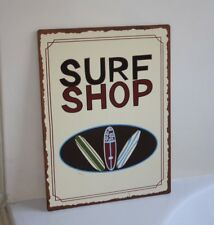 Surfboard Surfer Wall Hanging SURF SHOP Surfing Beach Decor - Metal 12.5 x 9.5