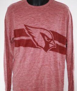 NEW Mens NFL Arizona Cardinals '47 Brand Heather Red Football Long Sleeve Shirt