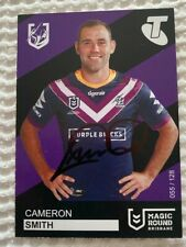 MELBOURNE STORM CAMERON SMITH SIGNED 2019 MAGIC ROUND TRADING CARD