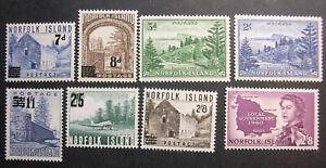 Norfolk Island 21-22, 23-24, 26-28, 42 MNH CV $65 BX