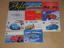 Chevron & Catherines    11 different new and used collectible gift cards