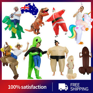 Inflatable Costume Suit Adult Funny Fancy Dress Horse Cowboy Halloween Cosplay