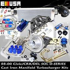 Honda Civic Complete Turbo Kits D Series EX/Si 1.6L SOHC VTEC I-4 125HP D16Z6