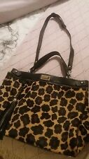 Claudia leopard..black real leather bag