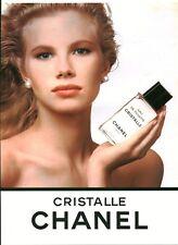 Publicité ancienne parfum Cristalle Chanel issue de magazine