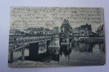Elbing, Leege Brücke,Westpreußen 1905