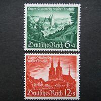 Germany Nazi 1940 Stamps MINT Malmedy Eupen WWII Third Reich German Deutschland