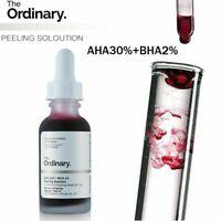 The Ordinary AHA 30% + BHA 2% Peeling Solution 10-Minute Exfoliating Facial  BT