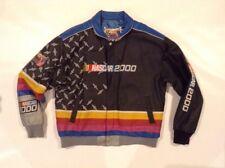 JEFF HAMILTON VINTAGE LEATHER BOMBER JACKET NASCAR 2000 Men's Coat Sz XL