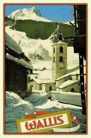 Wallis Switzerland Schweiz Blechschild Schild gewölbt Metal Tin Sign 20 x 30 cm