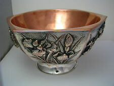 A SILVERPLATE BOWL SILVER PLATED BOWL COPPER RICE BOWL DISH Asia Japan