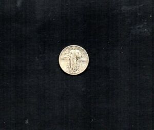 UNITED STATES 1930 STANDING LIBERTY 25CENTS.  ABOUT UNCIRCULATED.