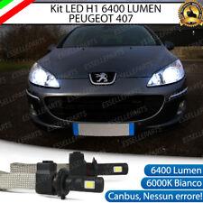 KIT FULL LED PEUGEOT 407 LAMPADE ANABBAGLIANTI LED H1 6000K BIANCO NO ERROR