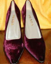 PRADA Purple/Violet Velvet Pointy Pumps Shoes Size 39.5