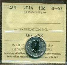2014 Canada 10 Cent Certified ICCS SP-67
