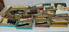Assorted HO Train Cars, Parts, Accessories Lot Vintage Metal Plastic