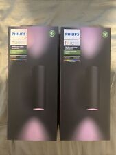 2 X Philips Appear Outdoor Hue Smart Wall Light - Black **Brand New & Sealed**
