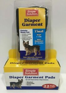Simple Solution Washable Diaper for Dogs - X-Small with Pads