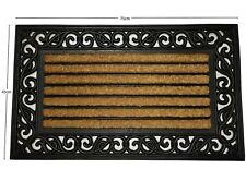 Scroll Coir Rubber Back Non Slip Doormat Floor Entrance Door Mat Outdoor 45x75