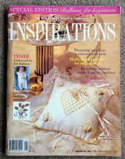 INSPIRATIONS embroidery magazine - Issue 16, 1997 - Pattern sheet attached.