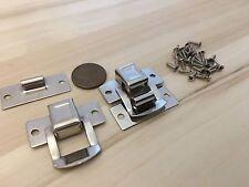 2 Crome square silver hasp small box hardware lock latch latches catches C24
