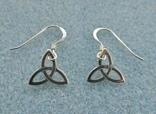 Triquetra Earrings.  Trefoil, Trinity Knot, Charmed.  All Solid Sterling Silver.