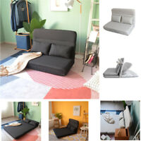 Adjustable Folding Soft Floor Sofa Bed +2 Pillows Tatami Lazy Lounge Couch Chair