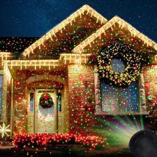 Láser de Navidad Hada Luz Proyección Proyector Láser Estrella Exterior Decoración De Luz