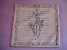 Large Iris Chenille Cushion Cover