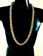 "Hip Hop 14K Gold Plated Large 16mm 36"" inch NWA Run DMC Rope Chain Necklace"