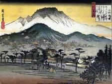 UTAGAWA HIROSHIGE JAPANESE POSTER EVENING VIEW TEMPLE HILLS ART PRINT 2700OM