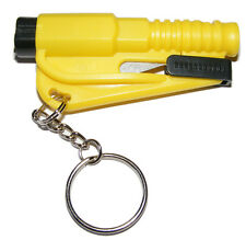 Black Emergency Car Windscreen Window Glass Breaker Smasher Safety Key Ring