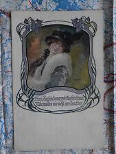 Portrait Frau Wien Gedicht Gemälde Kunstwerk Postkarte Ansichtskarte 3045