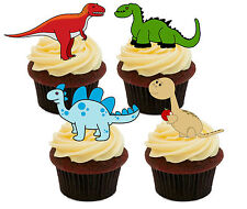 Dinosaurs Edible Cupcake Toppers - Stand-up Fairy Cake Decorations Kids Birthday